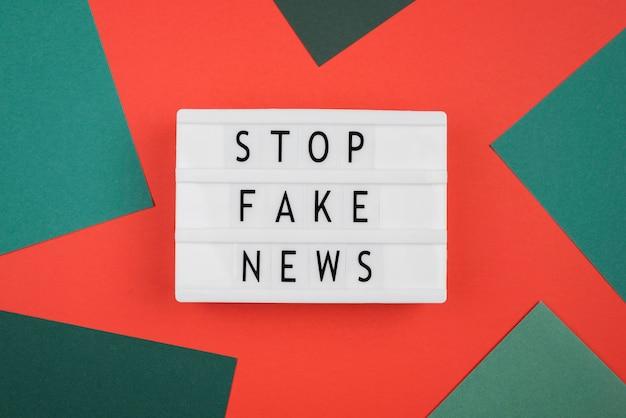 Acima vista parar conceito de notícias falsas