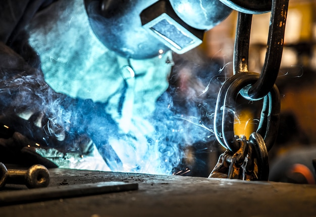 Aço de indústria de woker de soldagem