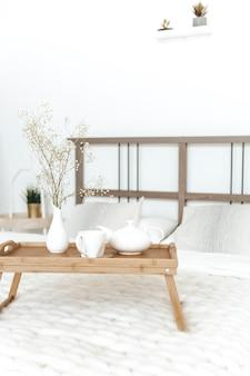 Aconchegante estadia em casa estilo escandinavo café da manhã na cama