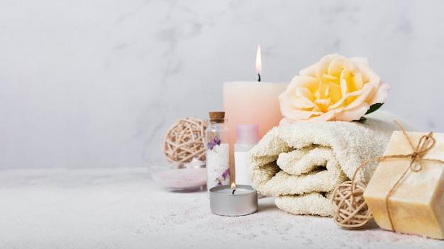 Acordo com produtos para banho
