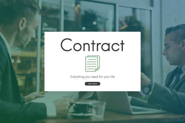 Acordo de compromisso do acordo de termos do contrato