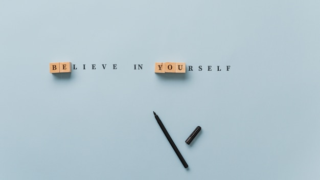 Acredite em si mesmo sinal