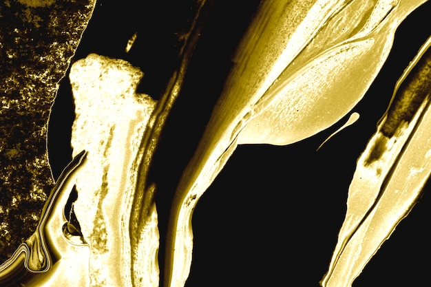 Acrílico abstrato dourado com textura