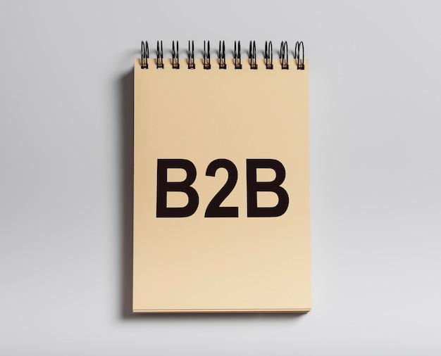 Acrônimo de b2b, inscrição. conceito de negócio para negócio.