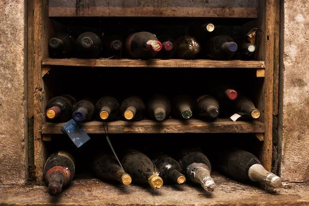 Adega de vinho vintage