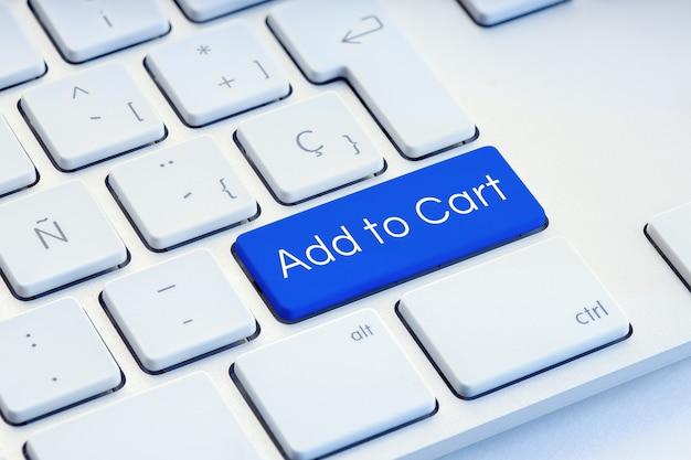 Adicionar ao carrinho na tecla azul do teclado do computador