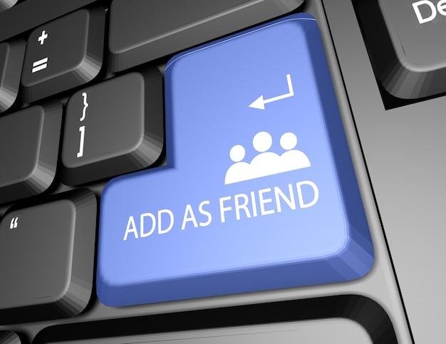 Adicionar teclado de botão de amigo 3d