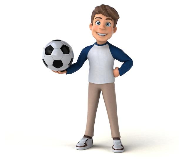 Adolescente divertido personagem de desenho animado