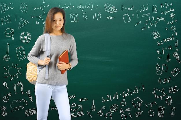 Adolescente menina escola / faculdade / estudante universitário