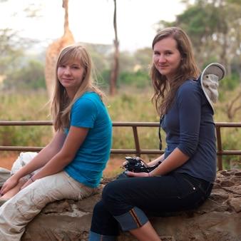 Adolescentes caucasianos no Quênia África