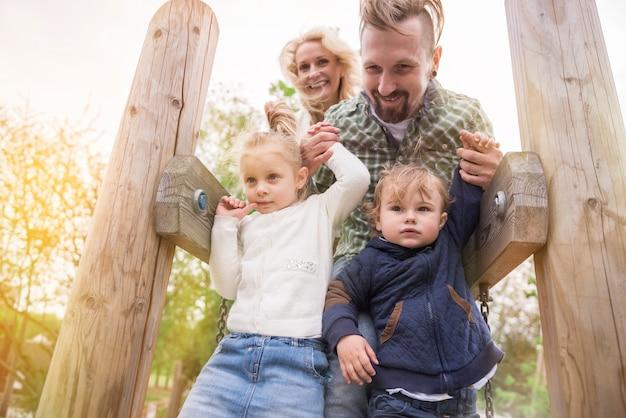 Adoramos passar o tempo no playground