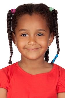 Adorável menina africana