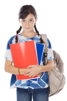 Adorável menina estudando
