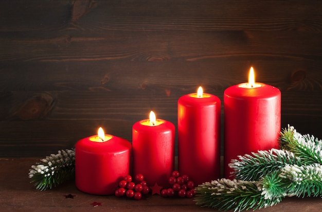 Advento de natal velas lanterna decoração