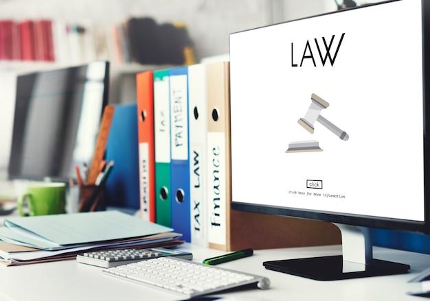 Advogado assessoria jurídica conceito de conformidade com a legislação