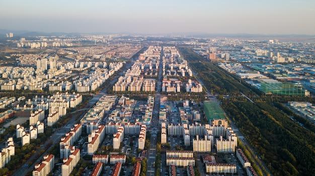 Aeria vista do parque industrial de incheon