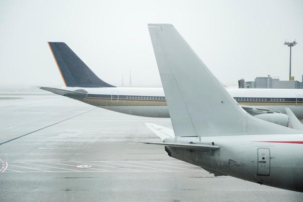 Aeronaves em um aeroporto