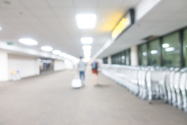 Aeroporto abstrato do borrão