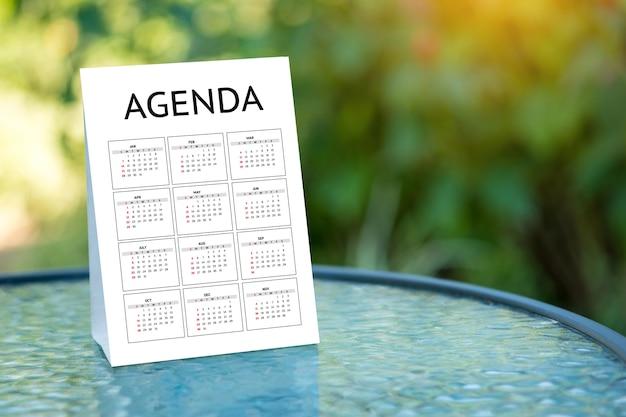 Agenda atividade informações calendário eventos e compromisso da reunião