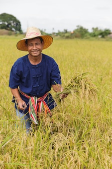 Agricultor asiático