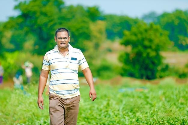 Agricultor indiano no campo