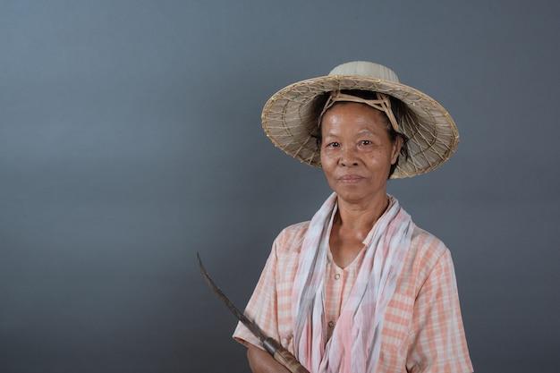 Agricultores femininos no estúdio