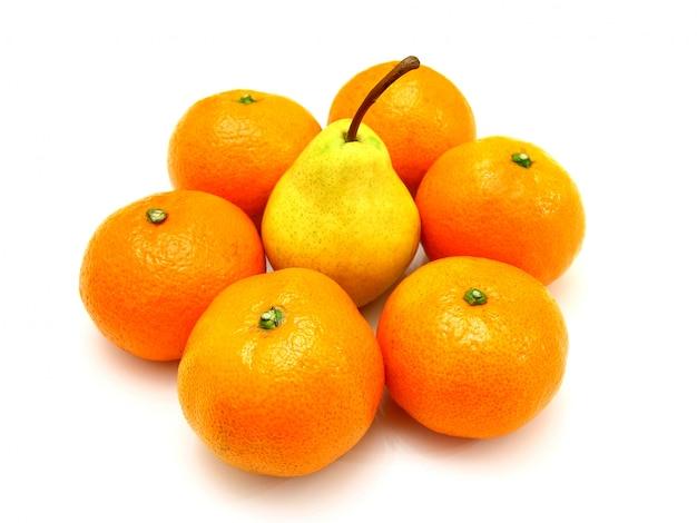 Agrupe uma mentira de tangerina é isolado