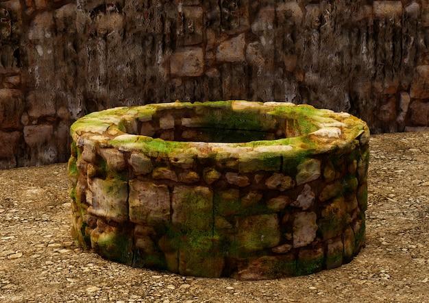 Água antiga bem, típica nas cidades bíblicas de israel