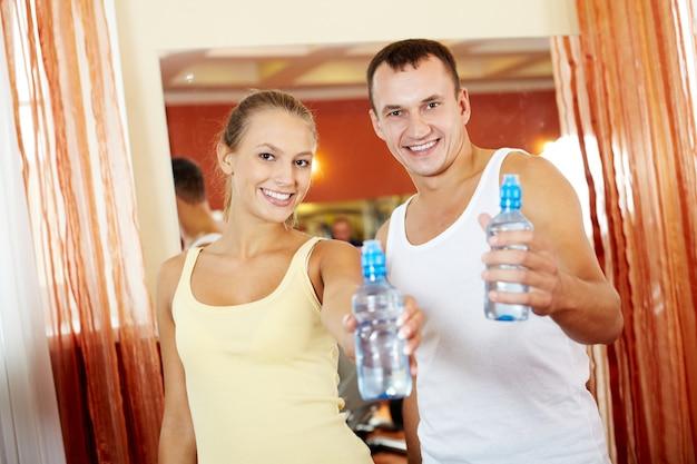 Água após o exercício