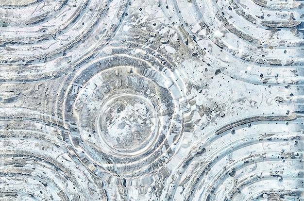 Água com bolhas e círculos