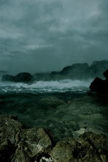 Água encontra oceano