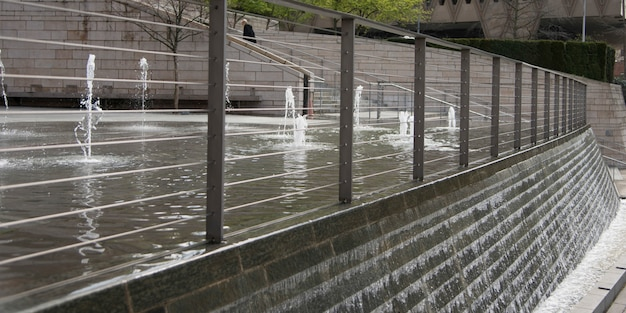 Água, fluir, de, a, chafariz, seattle, estado washington, eua