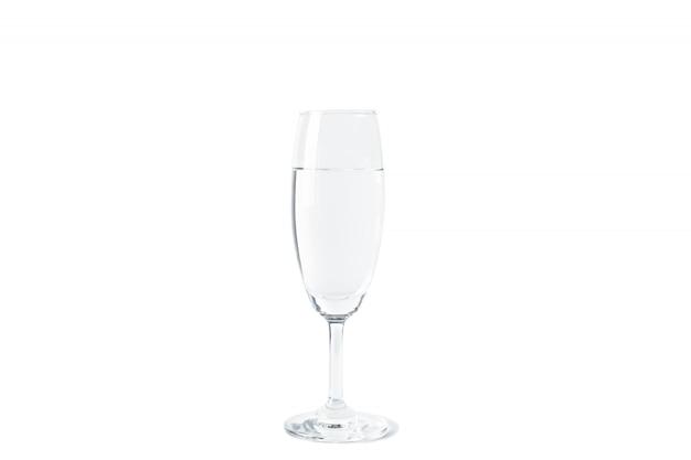 Água limpa em vidro
