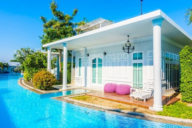 Água luxuoso hotel resort de natação