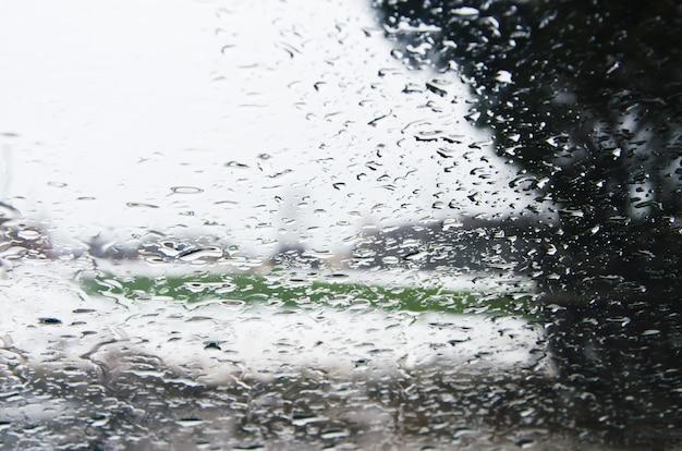 Água na superfície do vidro