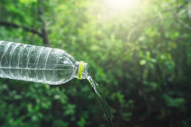 Água potável e verde natural