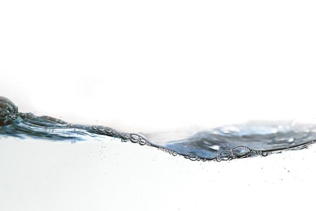 Água pura com bolha