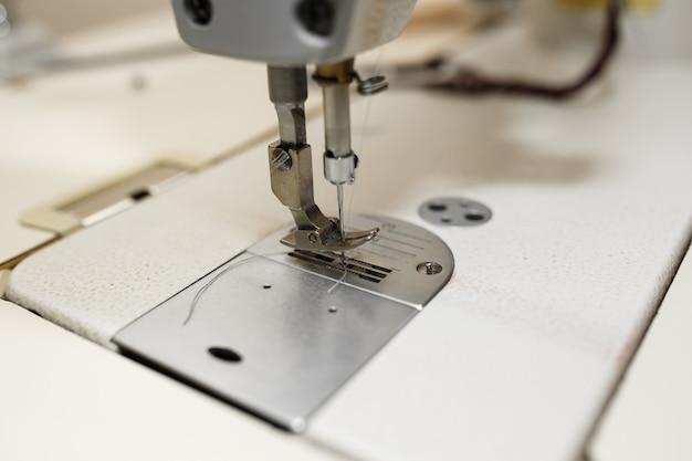 Agulha de máquina de costura closeup