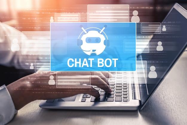 Ai chatbot conceito de aplicativo de serviço ao cliente digital inteligente.