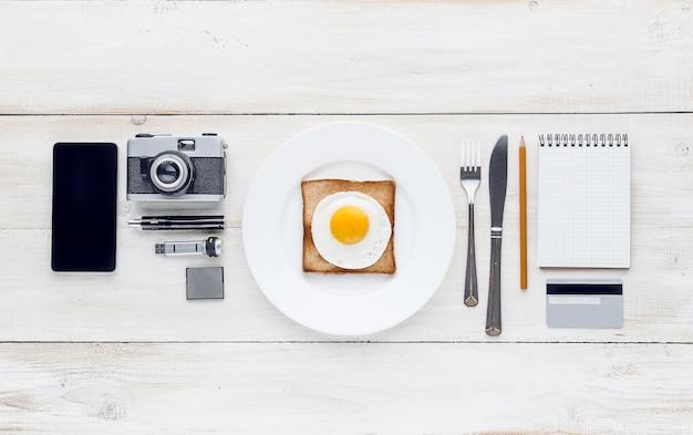 Ainda hipster perfeccionista de café da manhã