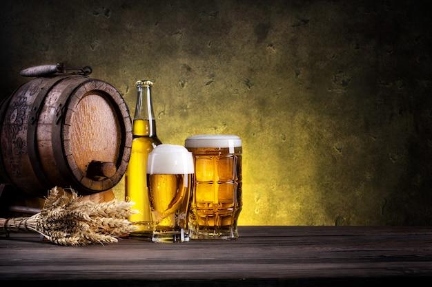 Ainda vida com cerveja