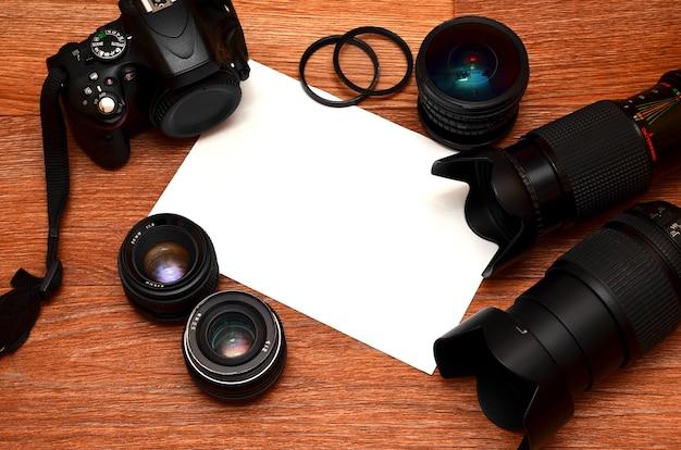 Ainda vida com kit de photocamera digital