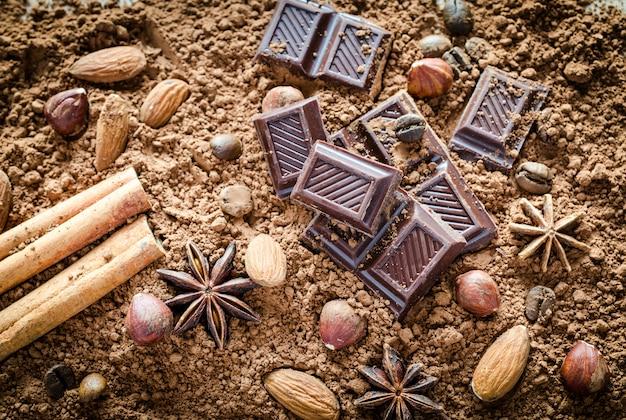 Ainda vida de chocolate