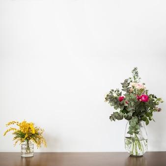 Ainda vida de flores com copyspace