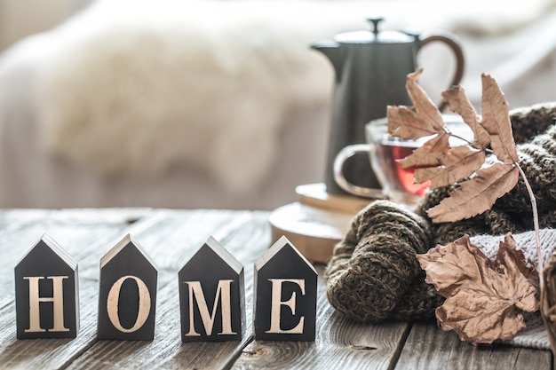 Ainda vida outono humor na atmosfera doméstica.