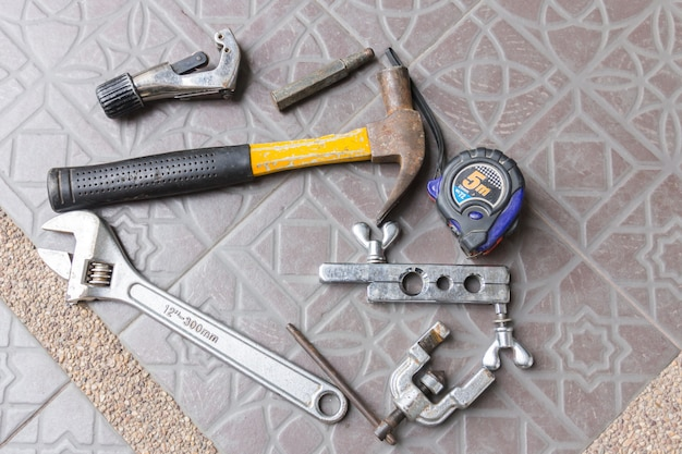 Air tools trabalhando para ar condicionado