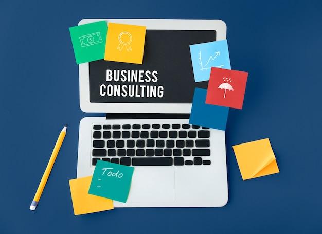 Ajuda do suporte técnico de consultoria de negócios