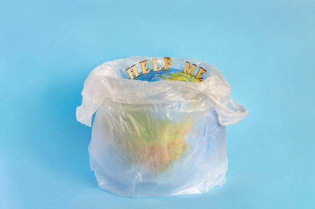 Ajude-me e modele o planeta terra em embalagem plástica de polietileno