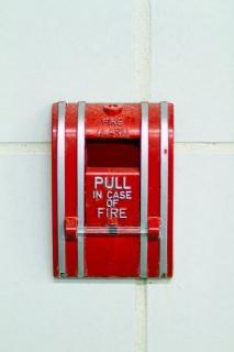 Alarme de incêndio vermelho
