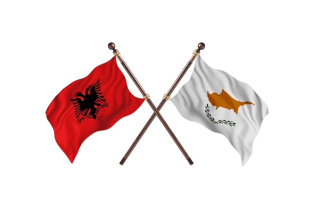 Albânia contra chipre two flags